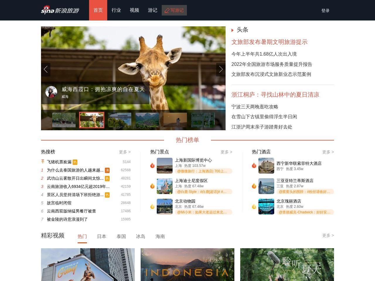 新浪网旅游频道