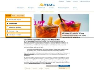 urlaub-de Webseite
