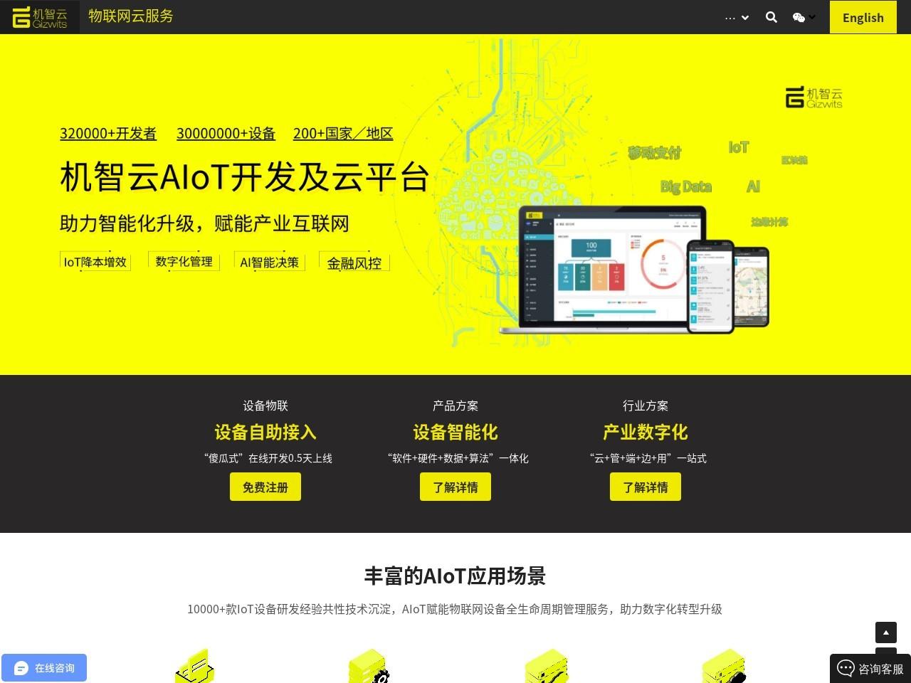 机智云_物联网云服务及自助开发平台