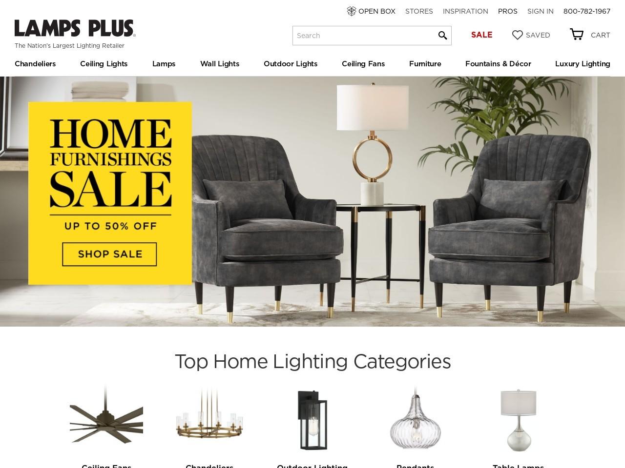 Lamps Plus灯具家具网