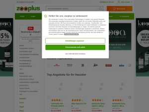 zooplus Webseite