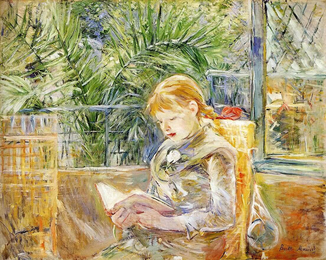 """Reading"" by Berthe Morisot"